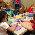 Suomi koulu kids crafting Philadelphia
